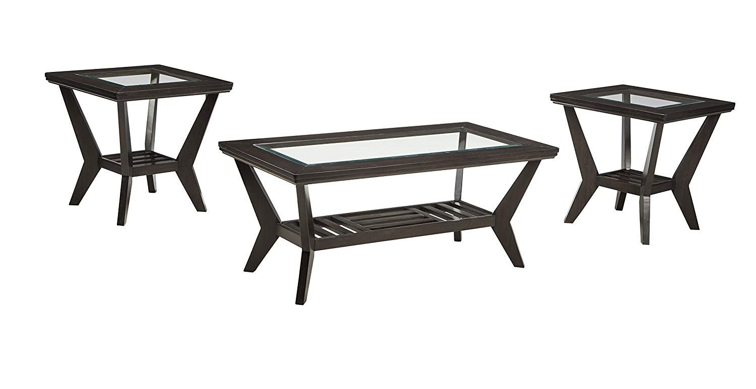 Ashley Furniture Signature Design Lanquist Occasional Table Set Glass Tops And Op Coffee Table And Side Table Set Coffee Table Ashley Furniture Living Room [ 773 x 1500 Pixel ]