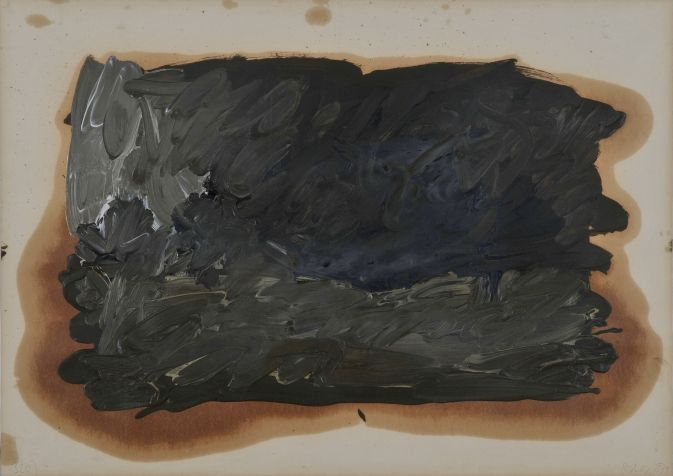 Gerhard Richter, Skizze zu Parkstück (Sketch for Park Piece), 1971, 60 cm x 85 cm, Oil on paper