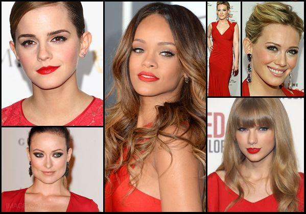 Maquillaje para vestido rojos de noche