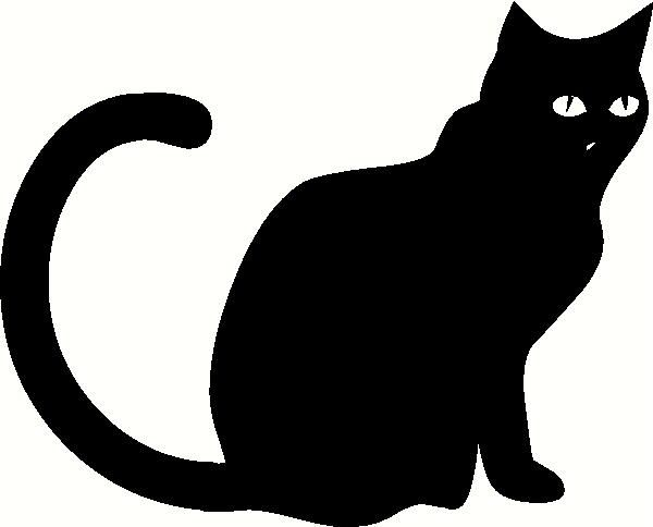 Black Cat Sitting Vinyl Decal Halloween Vinyl Decals Halloween - Vinyl decal cat pinterest