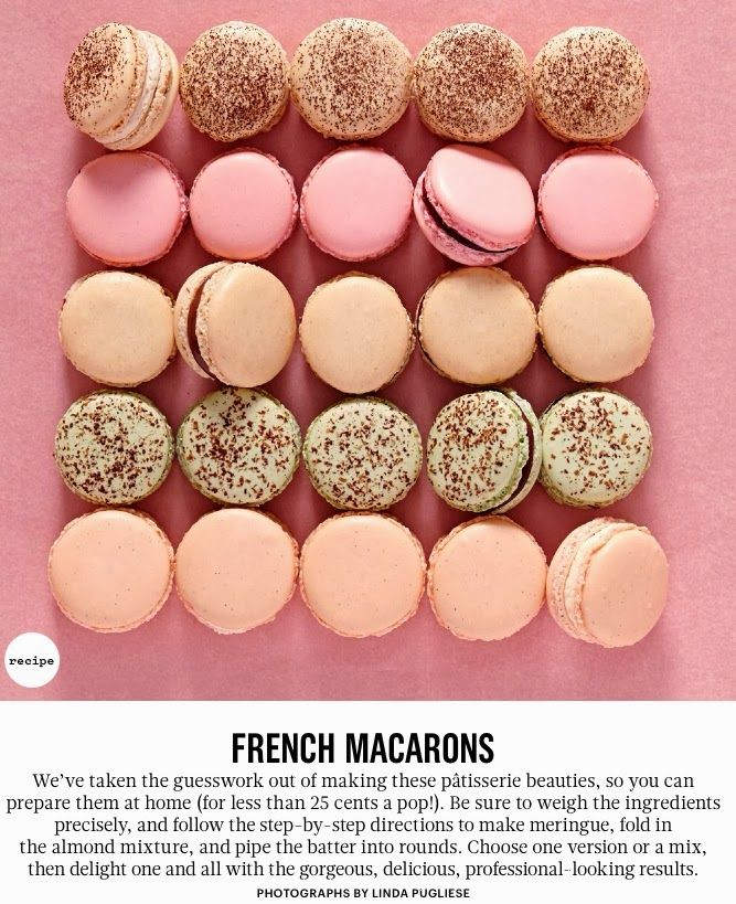 Click and scroll down for French Macaron recipe - Martha Living Magazine March 2014