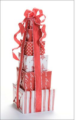 How fun would it be to open a big stack of presents like this! I ...