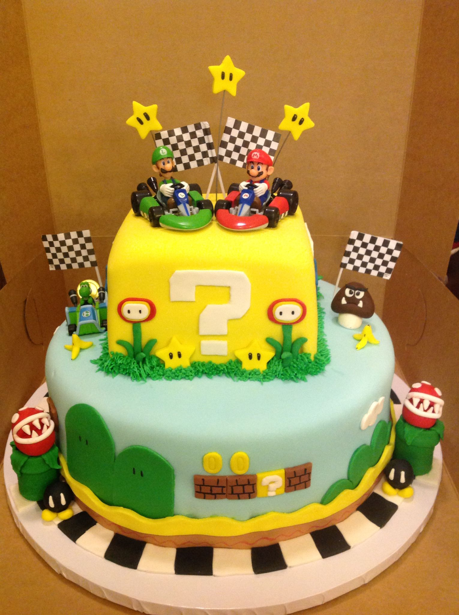 Excellent Mario Kart Cake With Images Mario Birthday Cake Mario Bros Personalised Birthday Cards Sponlily Jamesorg