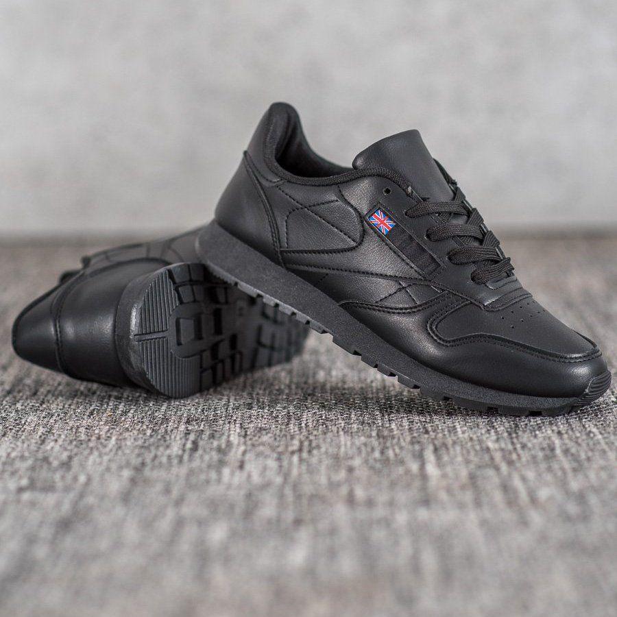 Shelovet Wiazane Buty Z Eko Skory Czarne All Black Sneakers Shoes Sneakers