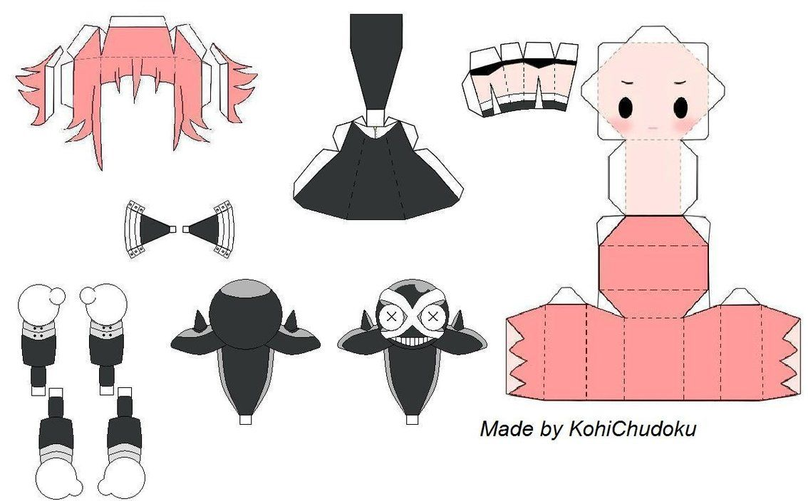 Crona Papercraft Template By Kohichudoku  Paper Craft