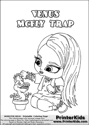 monster high venus mcfly trap baby chibi cute coloring page - Monster High Chibi Coloring Pages