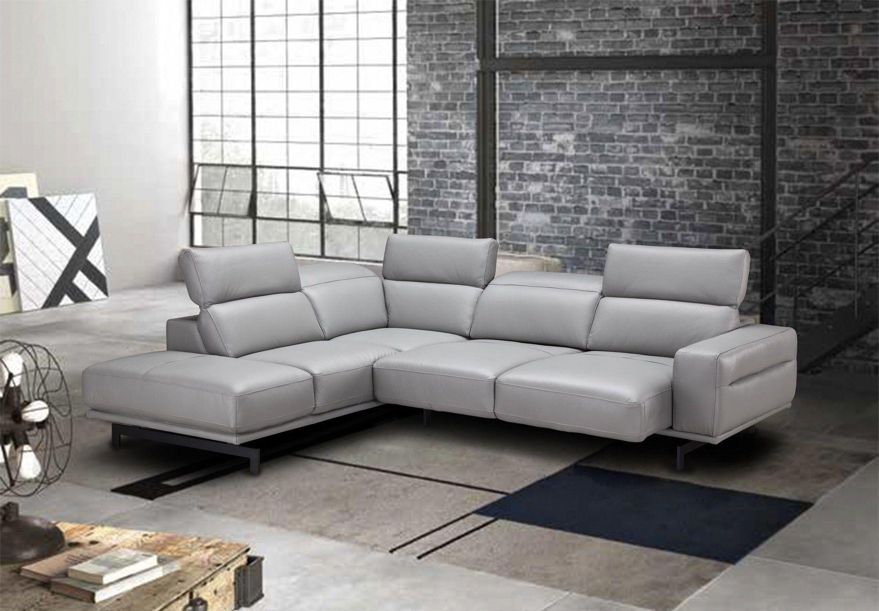 Davenport Lf Light Gray Sectional Sofa 17981 J M Sectional Sofas In 2020 Top Grain Leather Sectional Leather Sectional Grey Sectional Sofa