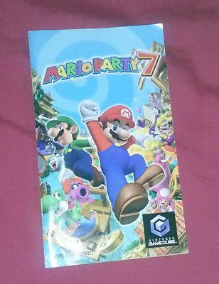 Mario Party 7 Gamecube Manual Only Instruction Booklet Replacement