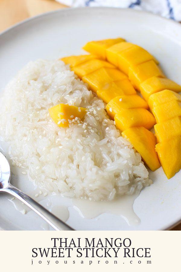 Thai Mango Sweet Sticky Rice - a classic Thai dessert!