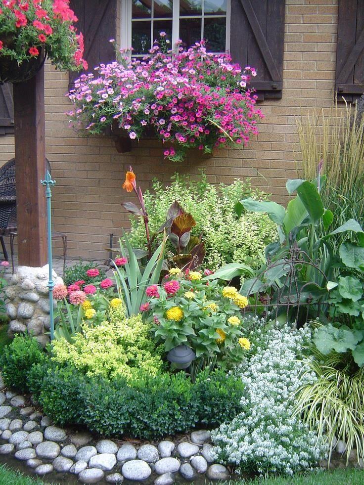 Beautiful Garden Scene Colour Flowers Plants Nature 640 x 480