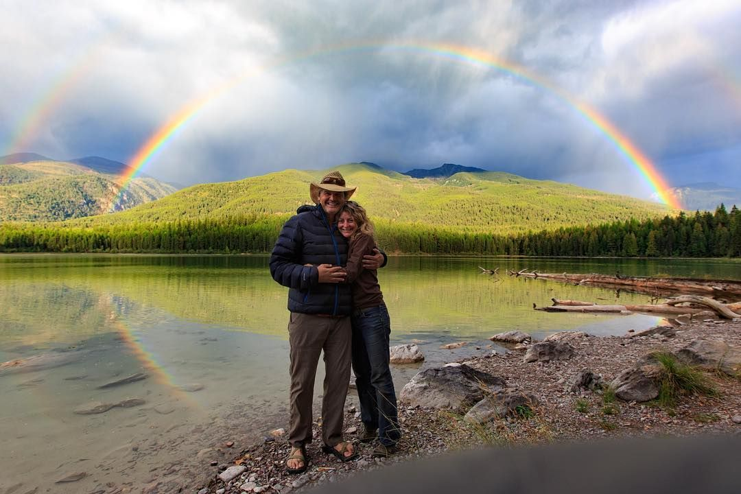 by @pam_voth with Rob Whitehair @wildpropaganda  You never know what you'll find at the end of the road.  This planet is amazing. I love my home #montana #connection #nature #mountains #rainbow #spiritual #wilderness #earth #love #pamvothphotography #wildpropaganda #robwhitehair