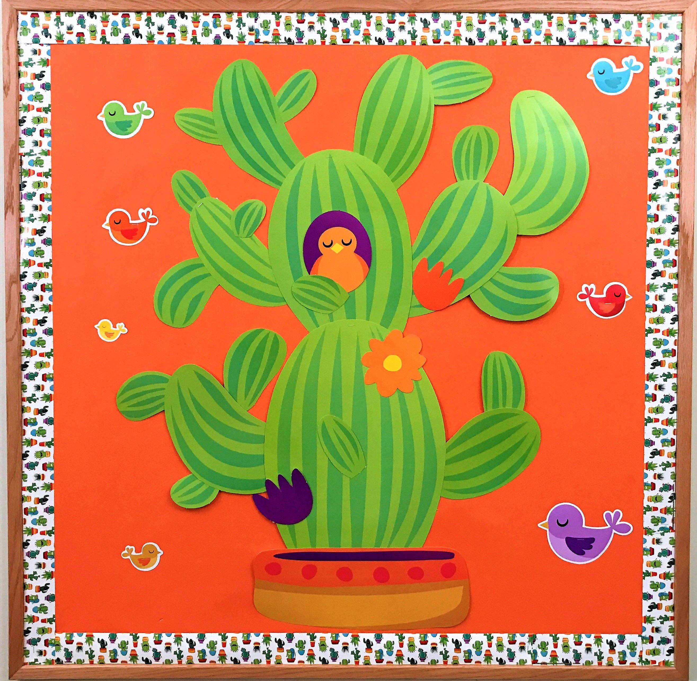 Classroom Decoration Cactus ~ A sharp bunch cactus classroom decoration and bulletin
