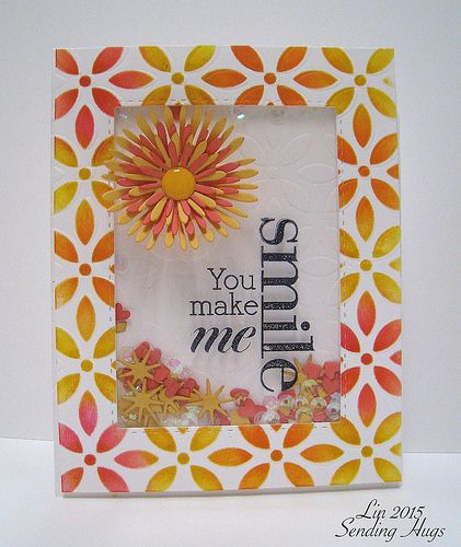 You Make Me Smile Shaker Card...