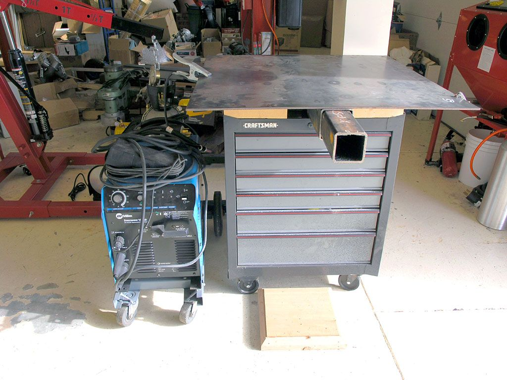 Welding Table On Rolling Tool Cabinet Atelier
