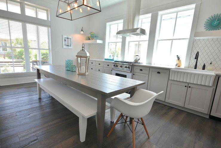 lollygag beach house kitchens gray shaker cabinets gray kitchen cabinets gray kitchen - Beach House Kitchen Ideas