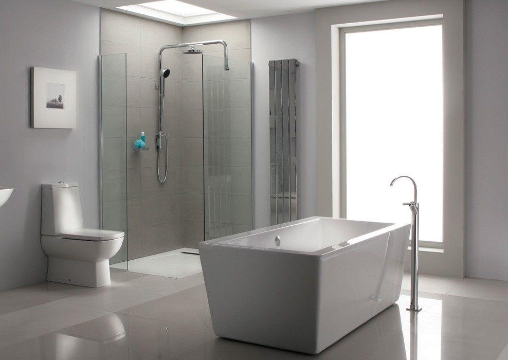 Pin by e-Baie on Bathroom Design Ideas | Pinterest | Grey tiles, Wet ...