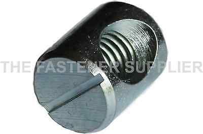 M6 X O10 X 12mm Steel Cross Dowel Barrel Nut Centred Hole 20