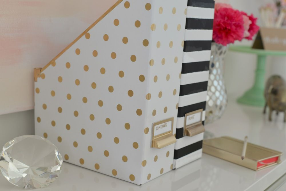 Kate Spade Decorating Tips: Kate Spade Inspired Magazine Holders