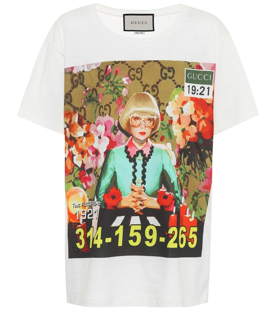 aa105e24924 Gucci - Printed cotton T-shirt - The future is 1921  Embrace Gucci s  montage of retro and future with this comfortable crew-neck T-shirt.