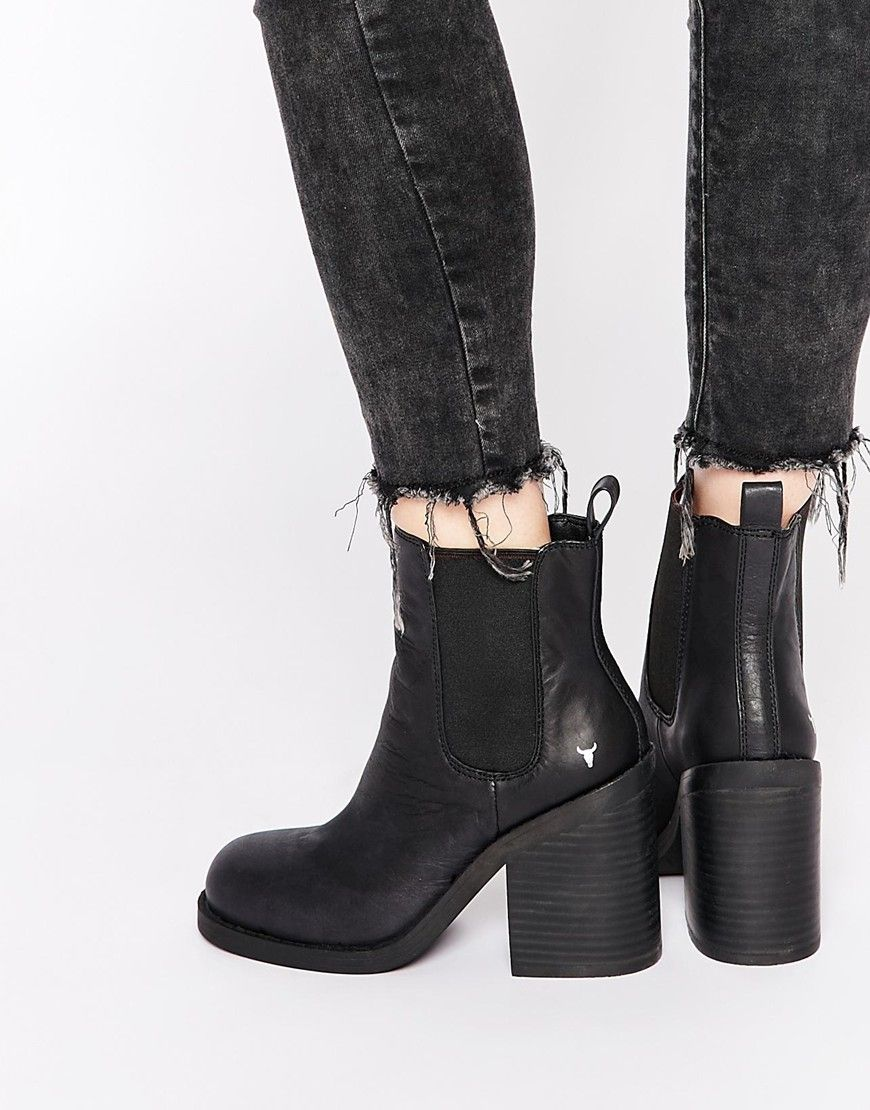 windsor smith mitey leather chelsea ankle boots | gimme now