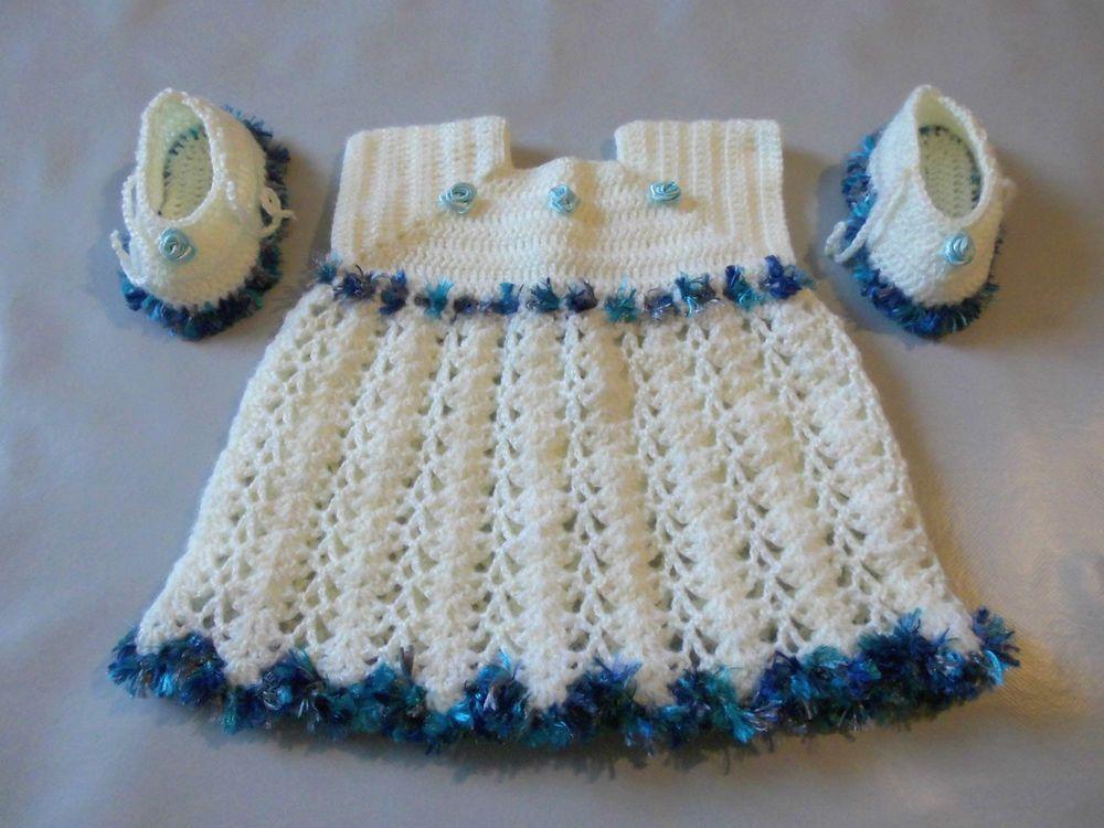 08e02c9d05f92 Ensemble bébé fille robe + chausson de 0 à 3 mois