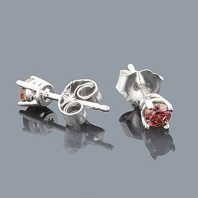 Your Kids Want To Stand Out And These Will Help Them Tremendously 14k White Gold Stud Earrings With 0 20ct Of Genuine Pink Diamonds