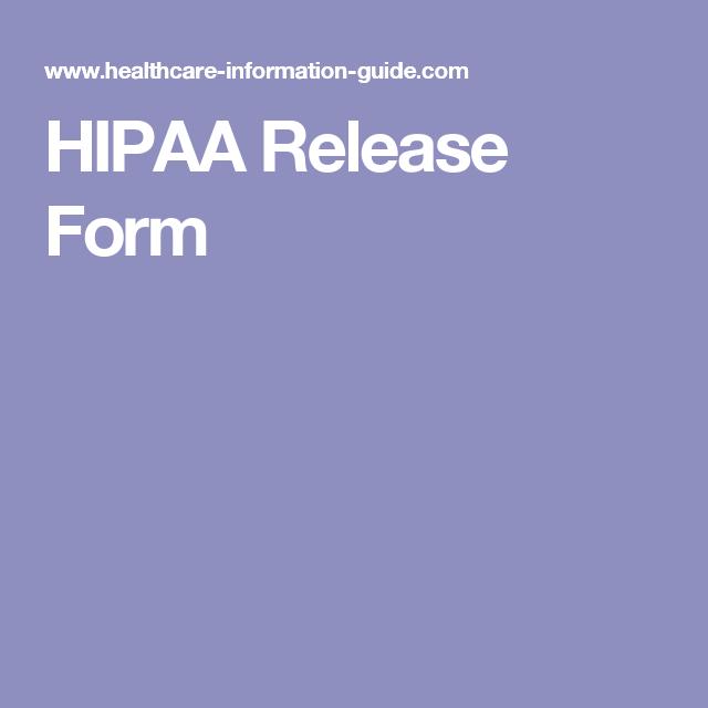 Hipaa Release Form  Social Work    Social Work