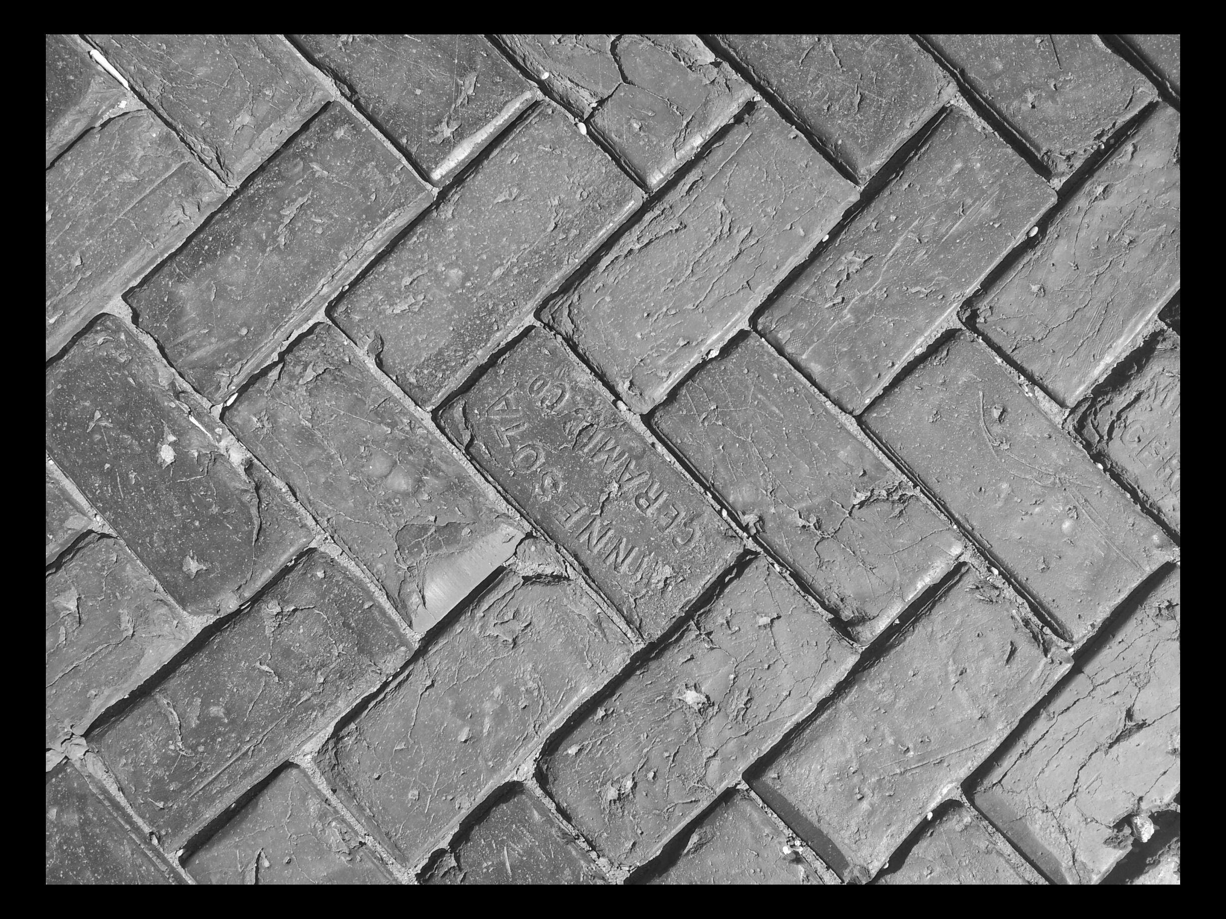 Brick Sidewalk At Rugby Nd Train Station Brick Sidewalk Brick Sidewalk