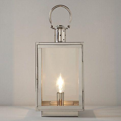 John lewis croft collection whitby box lantern table lamp nickel at john lewis
