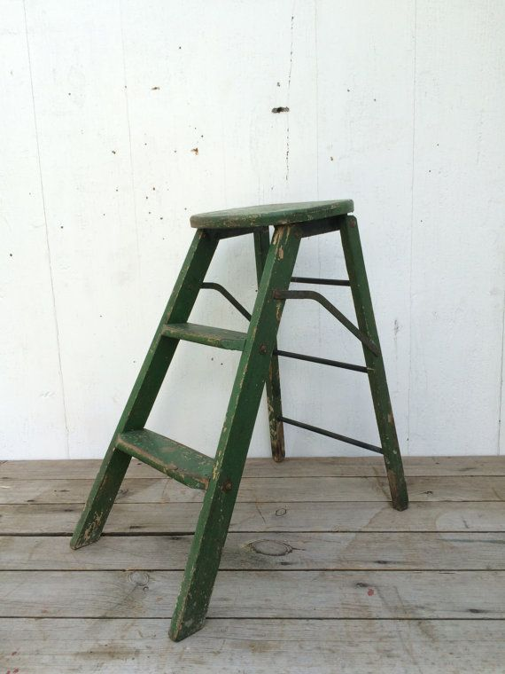 Super Antique Ladder Stool Industrial Wood Step Ladder Rustic Gmtry Best Dining Table And Chair Ideas Images Gmtryco