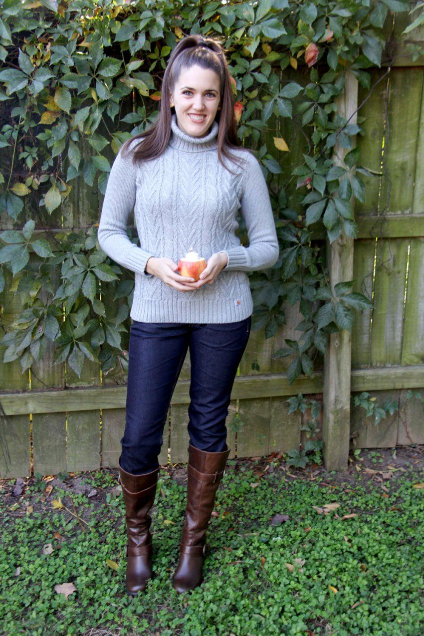 Carhartt Women's Monatou Sweater & Straight Fit Jeans -- the perfect outfit for this week's Thanksgiving DIY