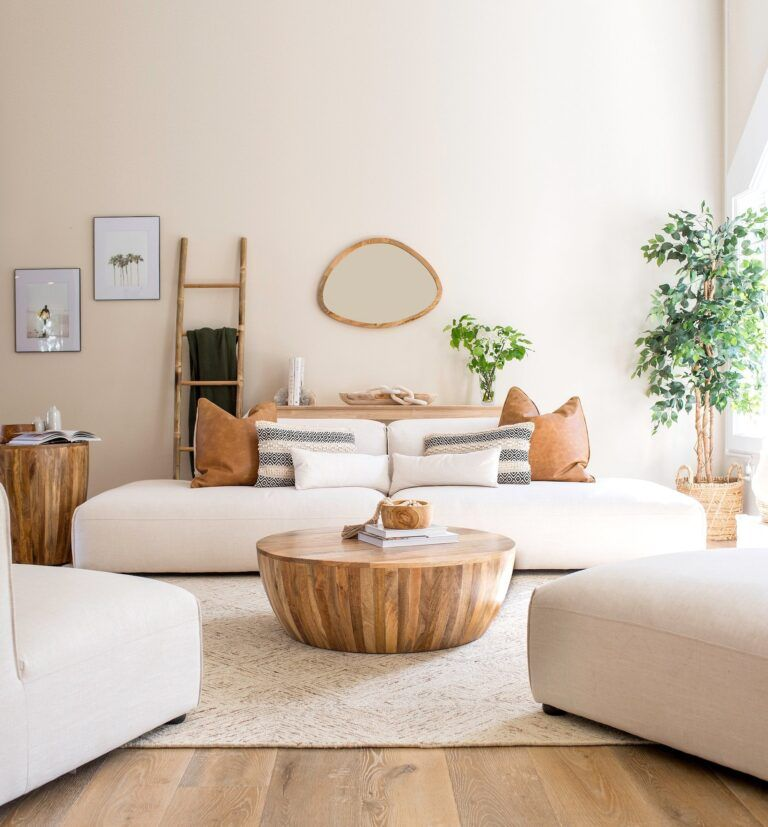 6 Amazing Round Wood Coffee Tables for Instant Warmth - allisa jacobs
