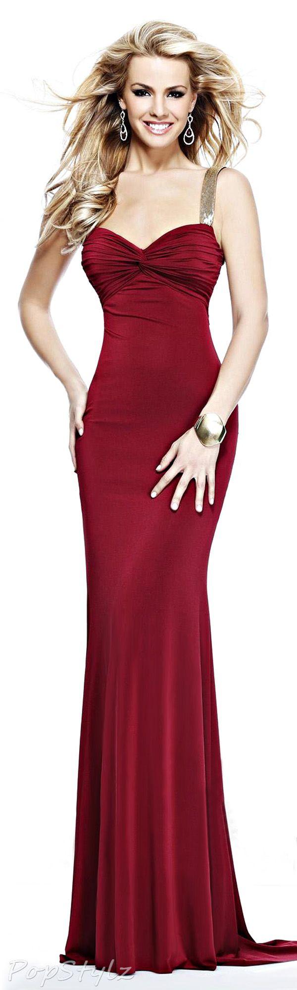 Tarik Ediz 2014 Evening Gown | likk | Pinterest | Gowns, Red evening ...