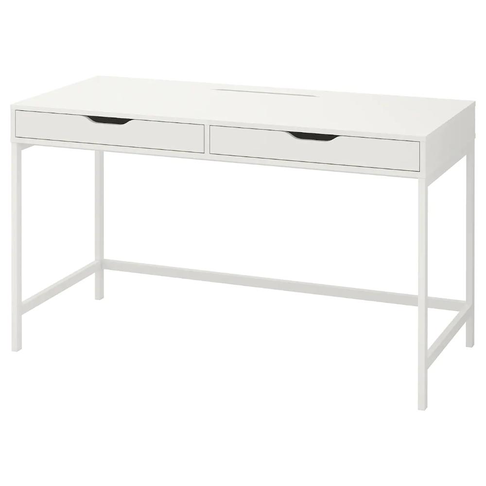Alex Desk White Ikea In 2020 White Desk With Drawers Ikea White Desk Alex Desk