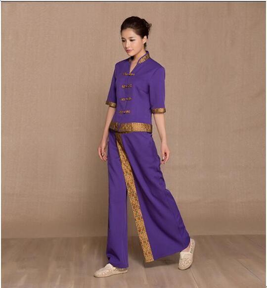 Thai spa beauty salon uniforms massage uniform sauna suit for Spa uniform nz