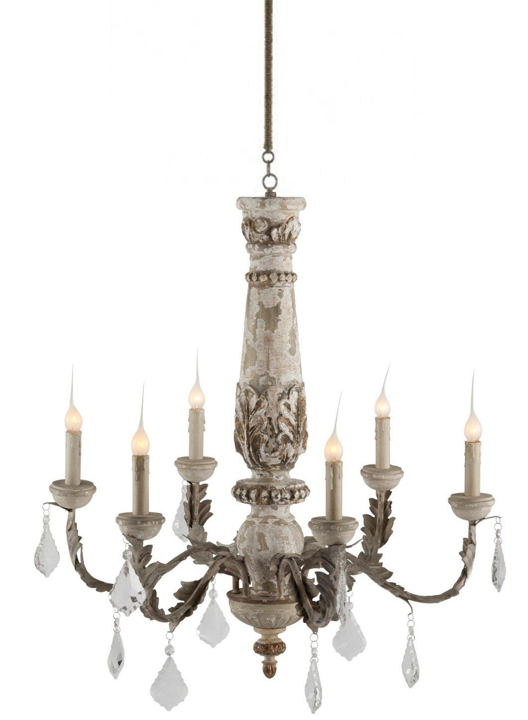 Baudin French Country Rustic Crystal Gray 6 Light Chandelier See This Great French Country Chandelier Country Bedroom Furniture French Country Style Bedroom