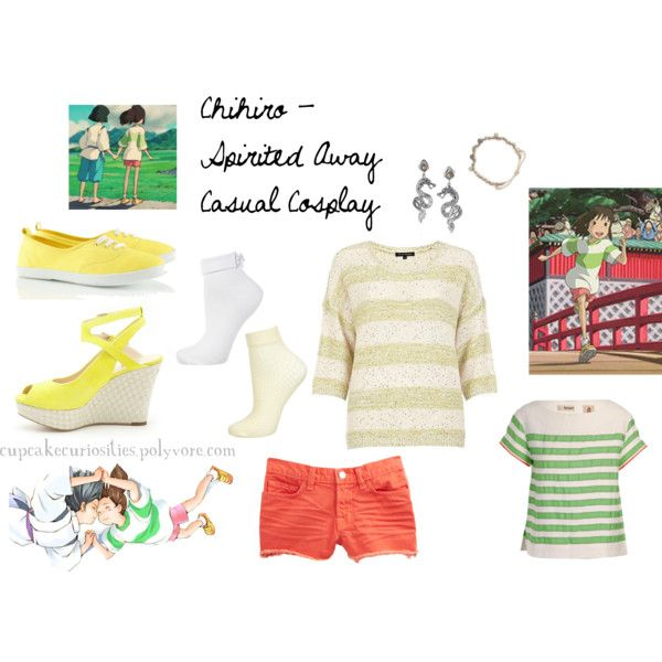This made my life. Chihiro - Spirited Away Casual Cosplay by cupcake-curiosities, via Polyvore