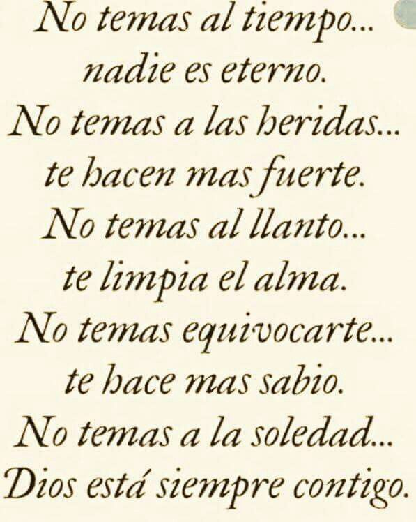 NO TEMAS...