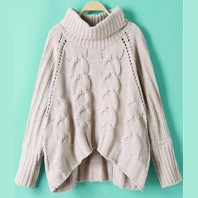 39,90EUR Pullover Rollkragenpullover beige mit Zopfmuster | Fashion ...