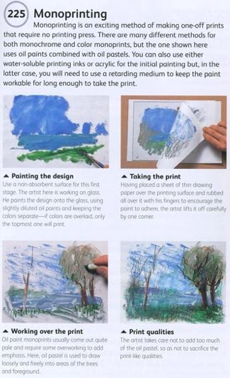 Monoprinting - paint, print, add detail to the print.