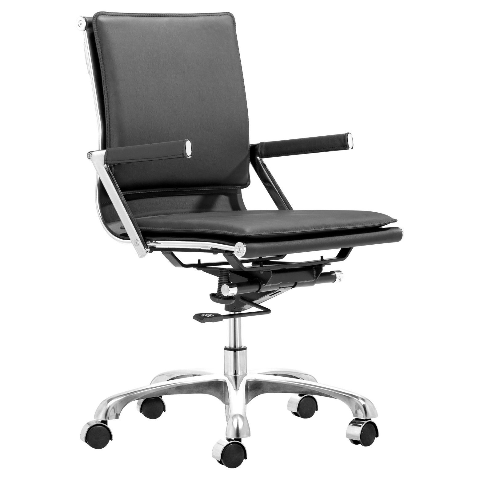 ZUO Ergonomic Upholstered fice Chair ZM Home