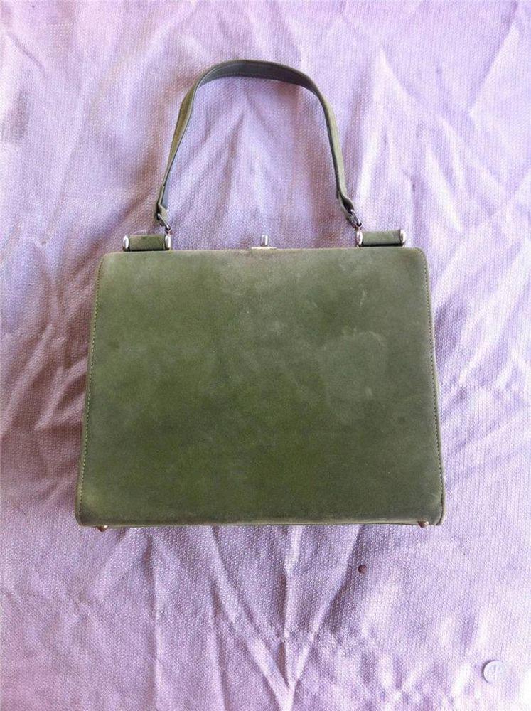 awesome vintage classy lime green handle purse 1960 u0026 39 s