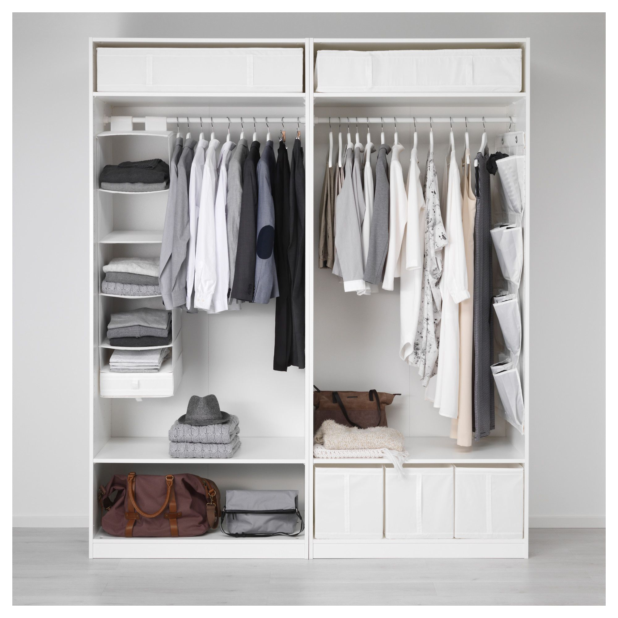 IKEA PAX Wardrobe white, Hasvik white Ikea pax