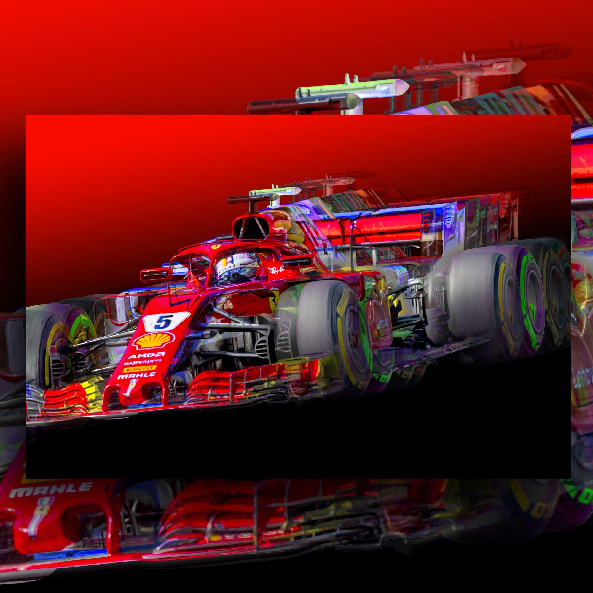 Formula1 Canvas Sebastian Vettel F1 Canvas The Gpbox Racing Art Canvas Modular Wall Art