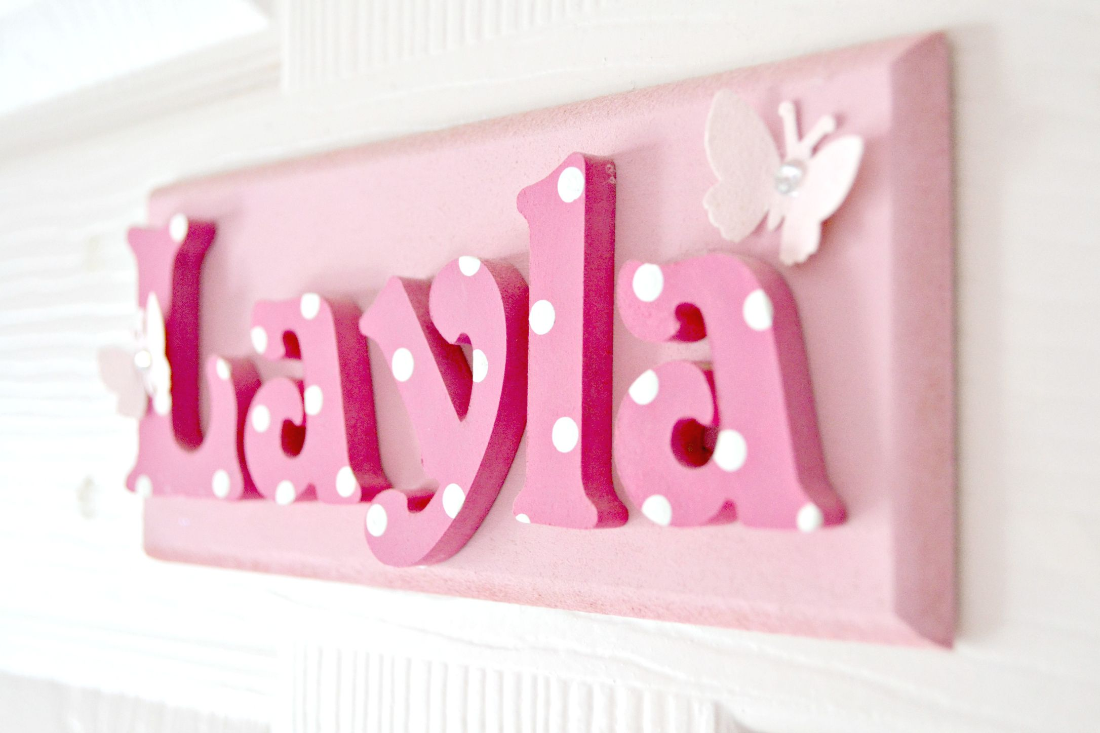Layla S Door Name Plaque Www Suggys Co Uk Leanne Name