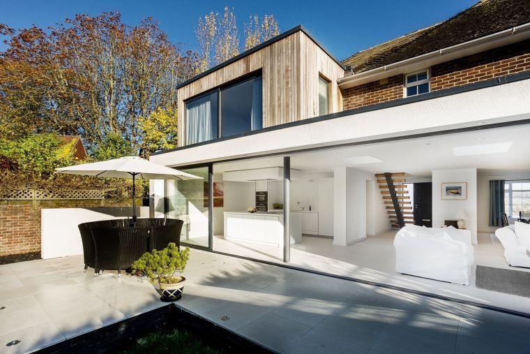 photo extension maison contemporaine veranda vitree ...