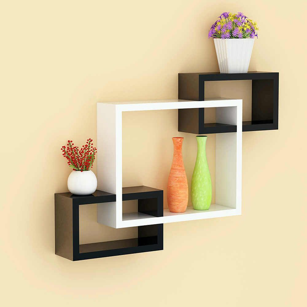 Wall Shelf Hanging Cabinet Wall Hanging Living Room Tv Background Wall Free Punching Bedroom Creative Storage Lattice Xi311124 Aliexpress In 2020 Wall Hanging Living Room Wall Shelves Design Living