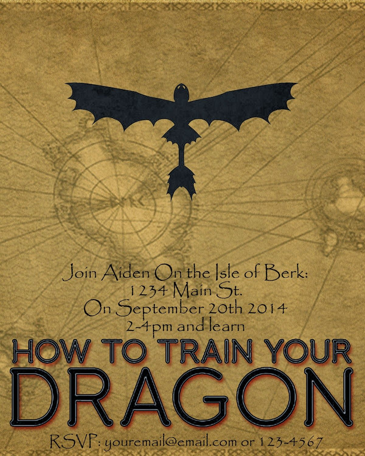 How To Train Your Dragon Printable Party Set With Images How