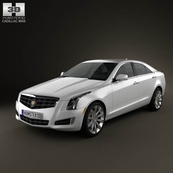 Cadillac ATS 2013 3d Model From Humster3d.com. Price: $75
