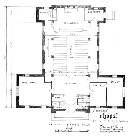 Small chapel plans floor plan of the proposed chapel for Small church blueprints